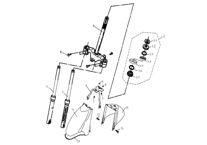 Framgaffel - Stänkskärm