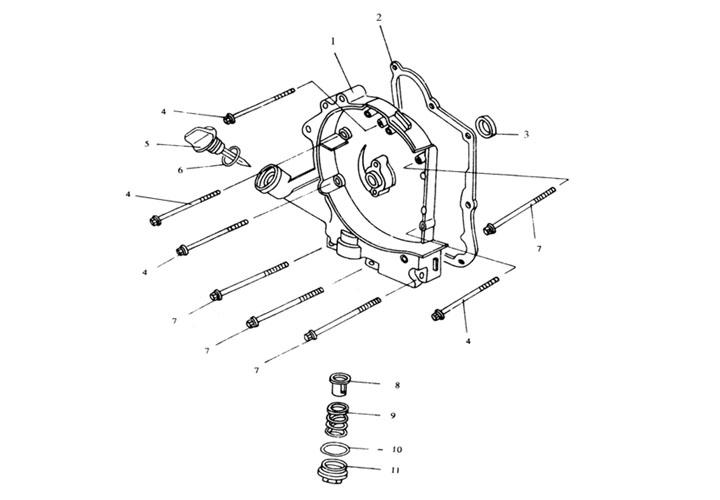 Motorkåpa Höger - Oljefilter