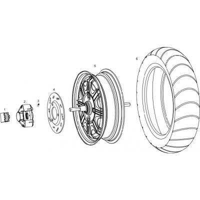 Bakhjul - Motor - Skivbroms