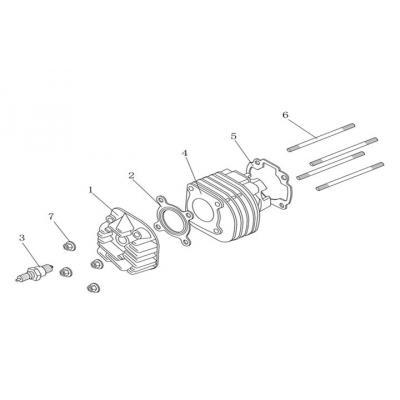 Cylinder - Topplock - Tändstift