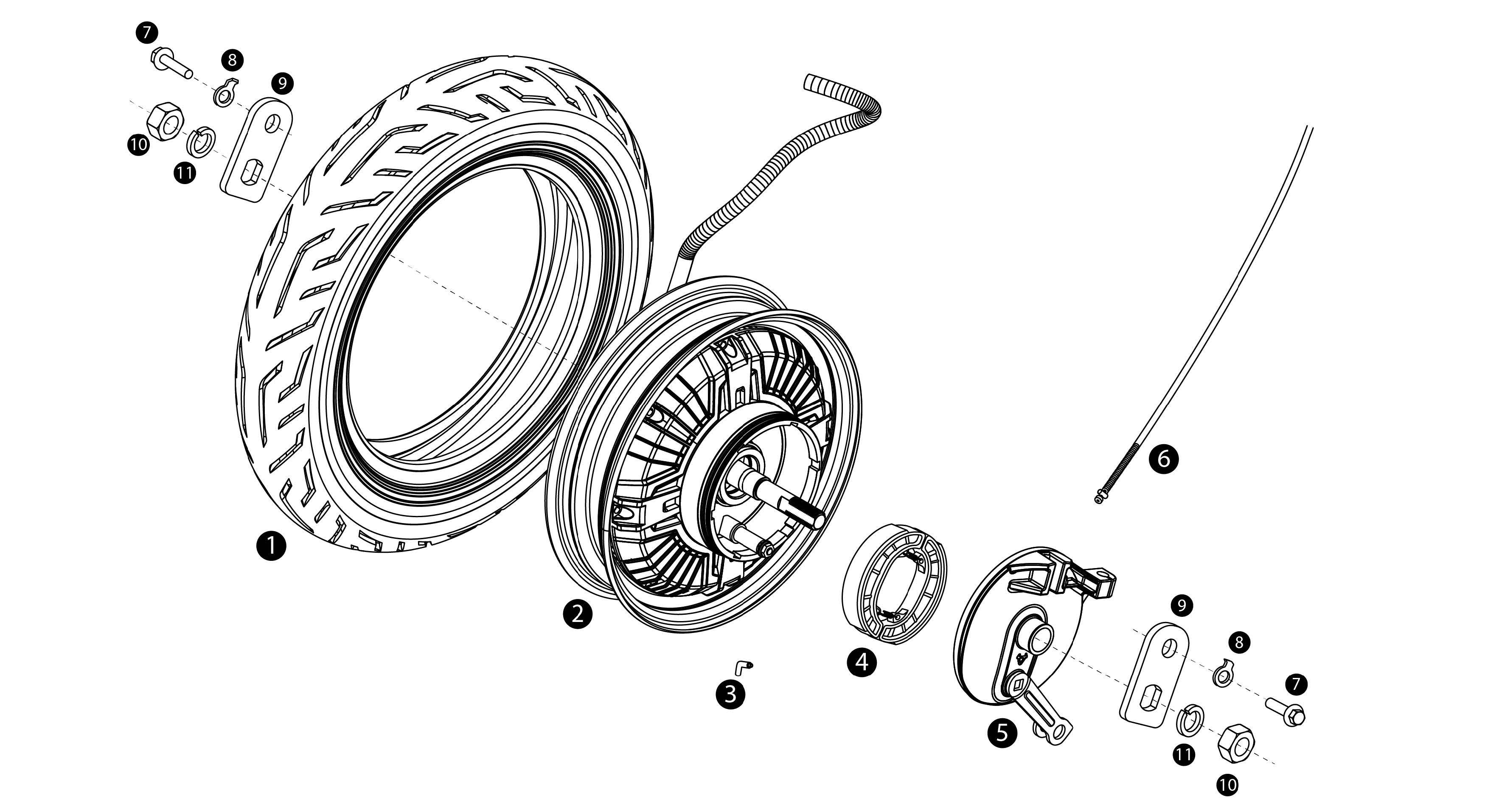 Bakhjul - Motor