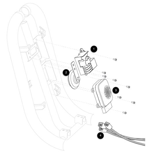 DC-DC Konverterare - Signalhorn - Larm - Kabelstam