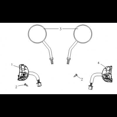 Backspeglar - Switchhandtag