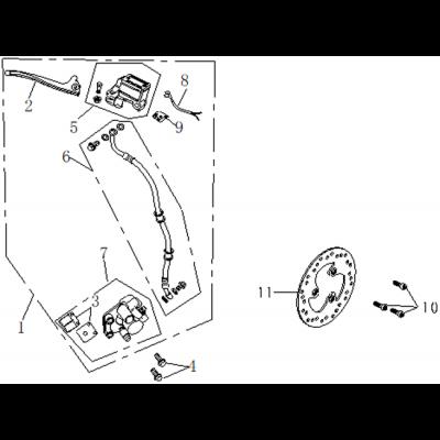 Frambroms - Bromsskiva - Bromsbelägg
