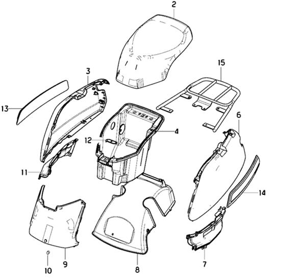 Sidokåpor - Sadel - Pakethållare
