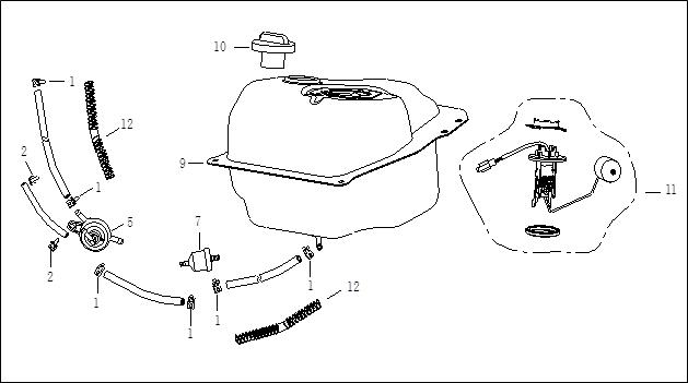Bränsletank - Bränslekran - Tankgivare