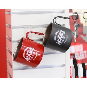 Kaffekopp metall NIU Power Röd