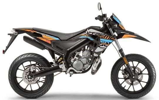 Derbi Senda Drd X-treme 50 Sm E4 Orange/grå 2020 Moped