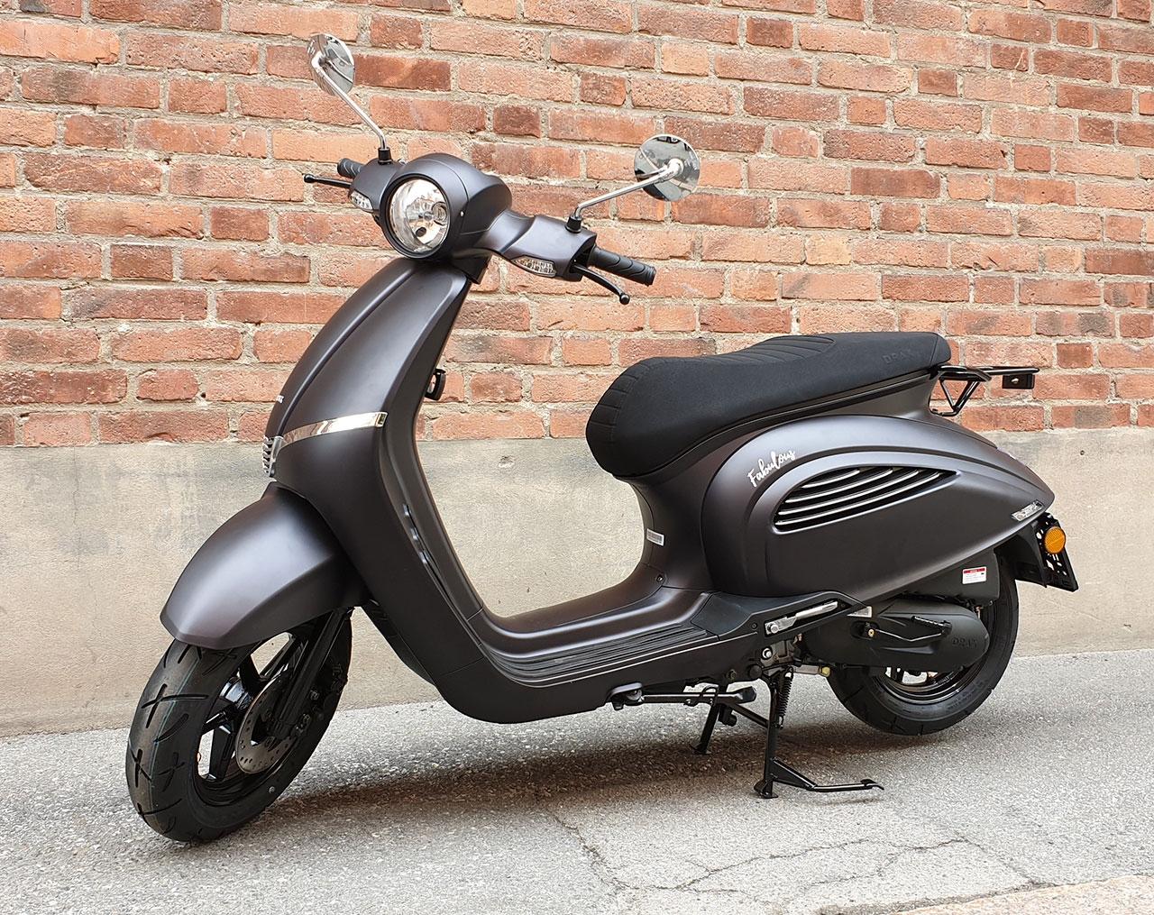Drax Fabulous 45km/h Mattgrå Euro5 Moped