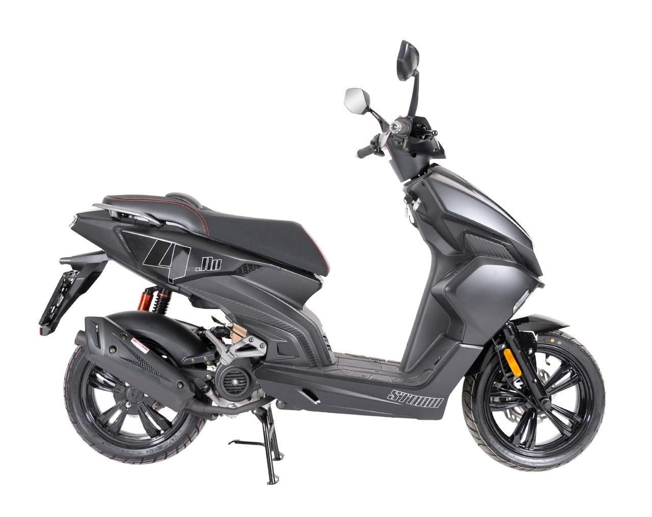 Drax Storm 45km/h Mattsvart Euro5 Moped