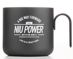 Kaffekopp Metall Niu Power Mattsvart
