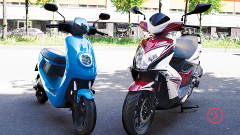 Elmoped vs bensinmoped
