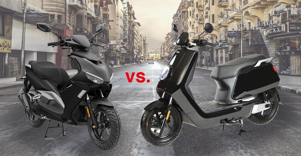 Bensin vs el Köp en scooter
